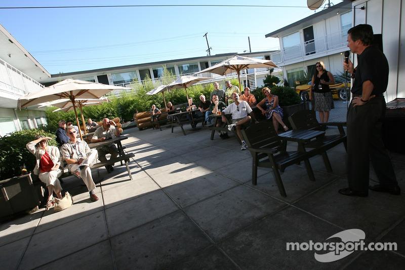 Evénement des fans de pilotes ALMS à Portland