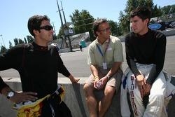 Défi de l'équipe de stand : Lucas Luhr, Calvin Fish et Mike Rockenfeller