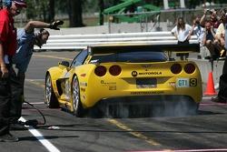 Défi de l'équipe de stand : #3 Corvette Racing Corvette C6-R: Ron Fellows, Johnny O'Connell