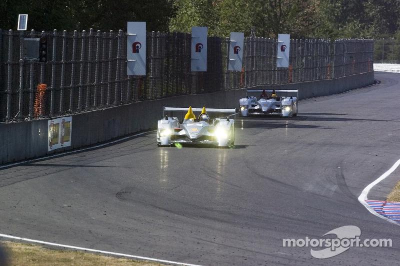 #1 Audi Sport North America Audi R10 TDI Power: Frank Biela, Emanuele Pirro, #2 Audi Sport North America Audi R10 TDI Power: Rinaldo Capello, Allan McNish
