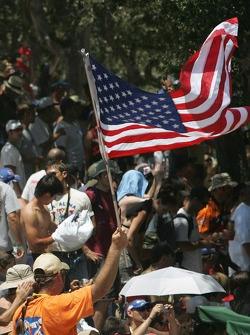 Американский флаг на трибуне