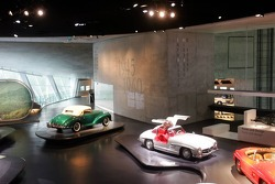 DaimlerChrysler Mercedes media warmup event: historical cars in the Mercedes-Benz museum in Stuttgart