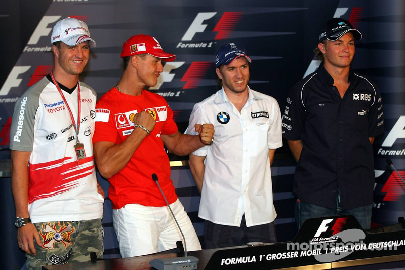 Conférence de presse de la FIA le jeudi: Ralf Schumacher, Michael Schumacher, Nick Heidfeld et Nico Rosberg