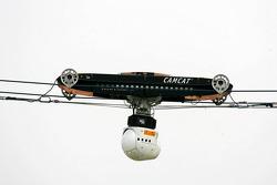 TV-Kamera schwebt durch das Motodrom