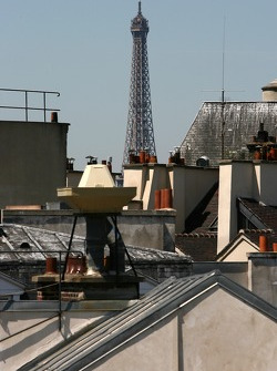 Paris' roofs and the Eiffel Tower