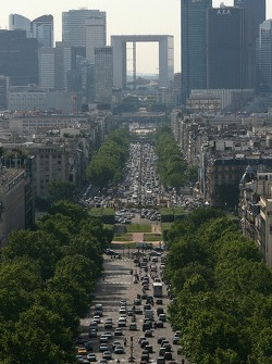 A view from atop the Arc de Triomphe: La Défense