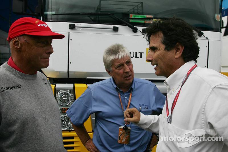 Niki Lauda, Herbie Blash y Nelson Piquet