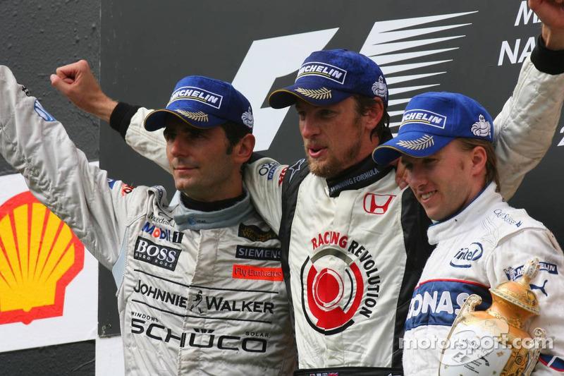 2006: 1. Дженсон Баттон, 2. Педро де ля Роса, 3. Ник Хайдфельд