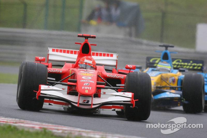 Michael Schumacher y Giancarlo Fisichella