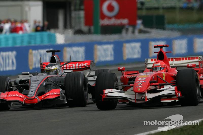Pedro de la Rosa y Michael Schumacher