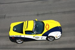 The Chevrolet Corvette Z06 pace car during pace laps