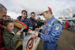 Mattias Ekström signs autographs
