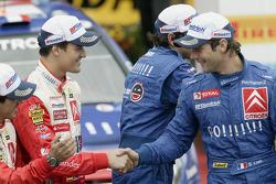 Sébastien Loeb congratulates Daniel Sordo