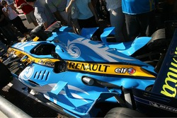 The Renault with a new livery