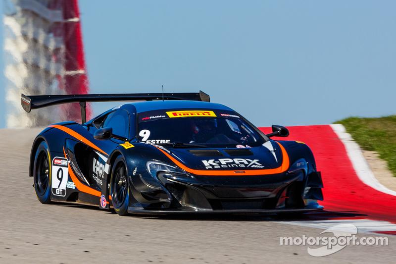 9 K-Pax Racing McLaren 650S GT3: Kevin Estre at Circuit of the ...