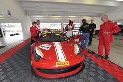 #154 Ferrari de Central Florida Ferrari 458CS: Michael Luzich