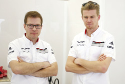 Andreas Seidl, Porsche Team manager, with Nico Hulkenberg