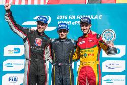 Podio: vincitore Nicolas Prost, il secondo posto Scott Speed, il terzo posto Daniel Abt