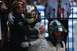 Lewis Hamilton (GBR) Mercedes AMG F1 and Nico Rosberg (GER) Mercedes AMG F1 W06. 15.03.2015. Formula