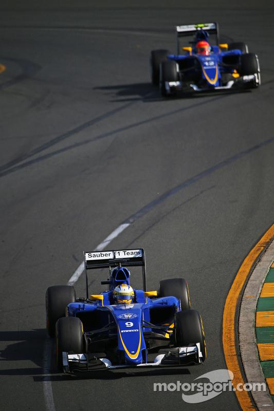 Маркус Ерікссон, Sauber C34 лідирує  товариш по команді Феліпе Наср, Sauber C34