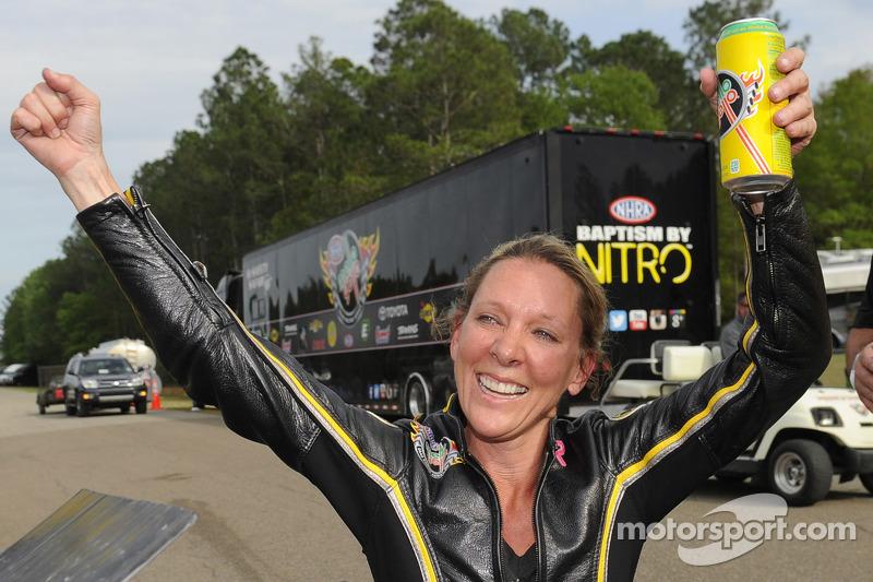 Pro Stock Bike winner Karen Stoffer