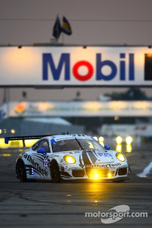 #22 Alex Job Racing, Porsche 911 GT America: Cooper MacNeil, Leh Keen, Andrew Davis
