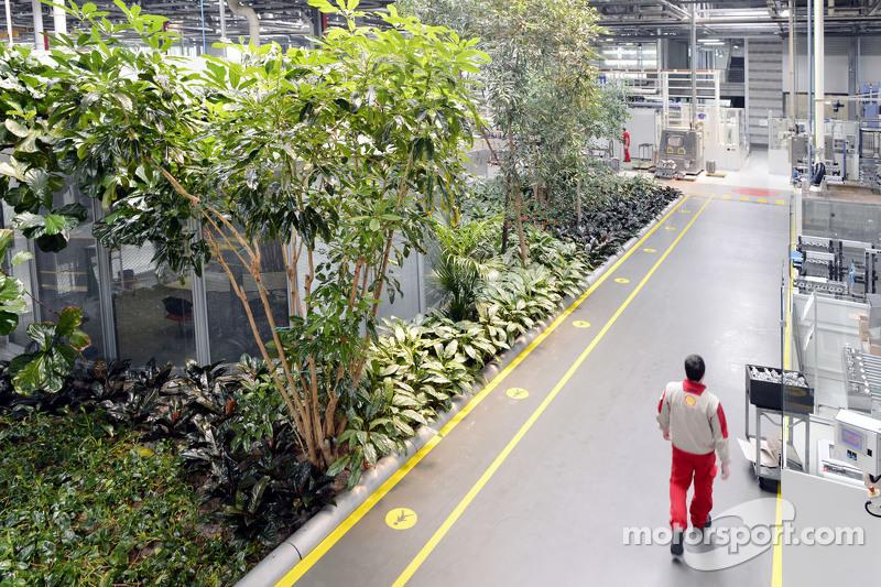 Ein Gebäude aus dem Ferrari-Werkskomplex