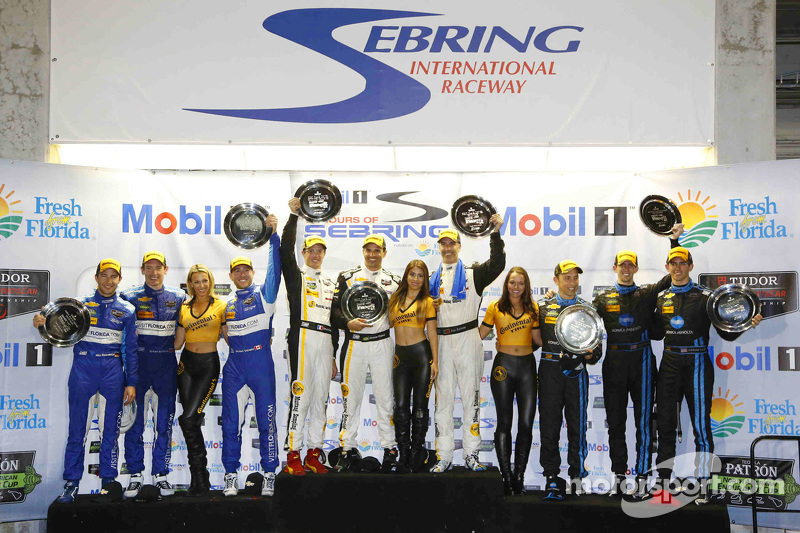 P-Klasse-Podium: Joao Barbosa, Sébastien Bourdais, Christian Fittipaldi; 2. Ricky Taylor, Jordan Tay
