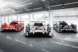 Porsche 919 Hybrid 2015 года в трех вариантах окраса для