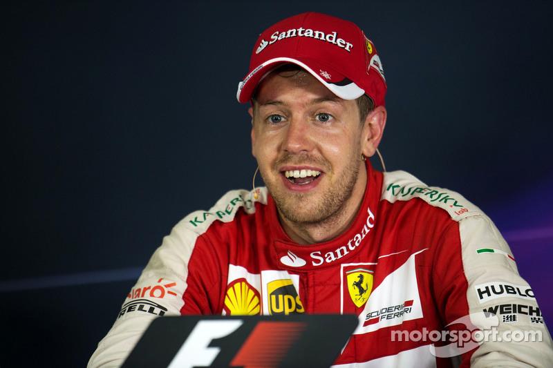 Juara balapan Sebastian Vettel, Ferrari di FIA Press Conference