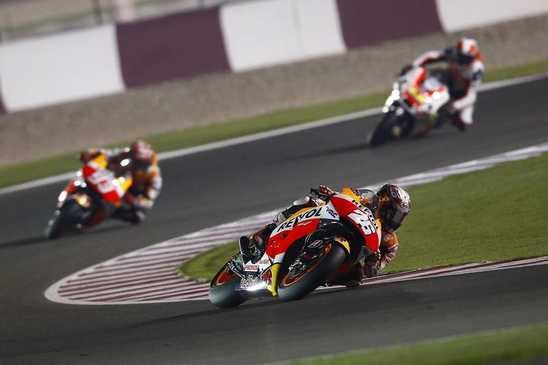 Dani Pedrosa y Marc Marquez, Repsol Honda Team y Yonny Hernandez, Pramac Racing