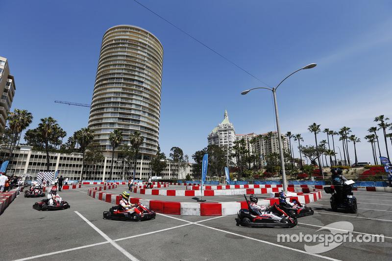 Evento de Karting con conductores de Fórmula E y VIPs