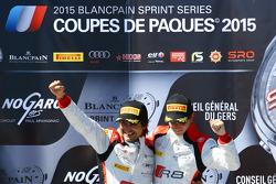 Podium: race winners Stéphane Richelmi, Stéphane Ortelli, Belgian Audi Club Team WRT