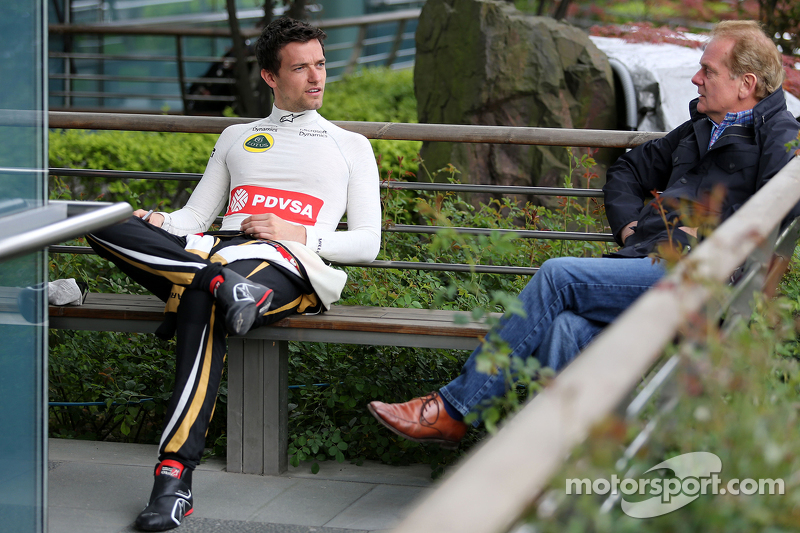 Jolyon Palmer, Lotus F1 Team and his father Johnathan