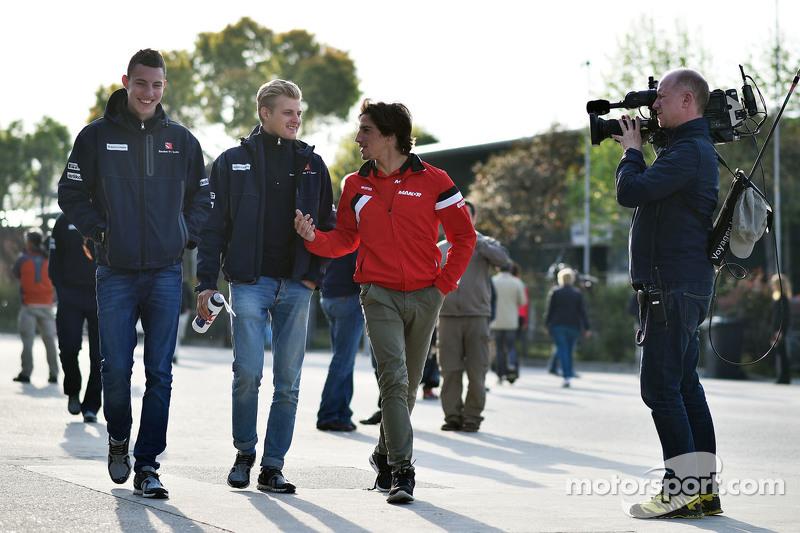 Raffaele Marciello, Sauber F1 Team Test And Reserve Driver with Marcus Ericsson, Sauber F1 Team and Roberto Merhi, Manor F1 Team