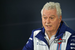 Pat Symonds, Williams, Leiter Technik, in der FIA-Pressekonferenz