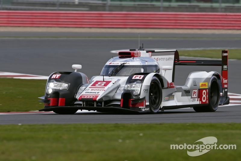 #8 Audi Sport Team Joest Audi R18 e-tron quattro: Лукас ді Грассі, Лоік Дюваль, Олівер Ярвіс