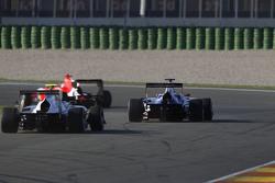 Luca Ghiotto, Trident;和Antonio Fuoco, Carlin;和Aleksander Bosak, 阿登国际车队