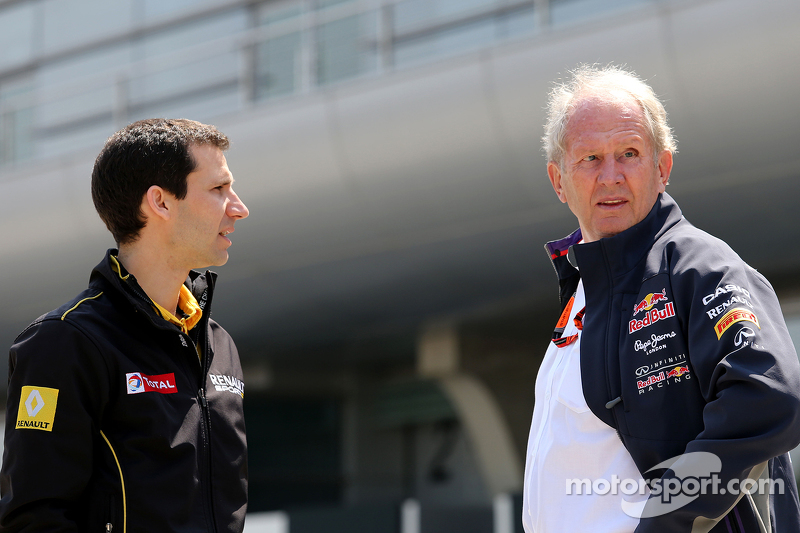 Remi Taffin, Renault Sport F1 Head of track operations and Dr Helmut Marko, Red Bull Motorsport Cons