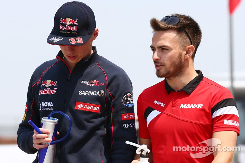Max Verstappen, Scuderia Toro Rosso bersama Will Stevens, Manor F1 Team
