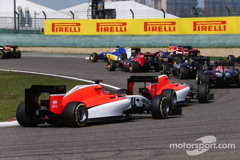 Will Stevens, Manor F1 Team, beim Start