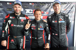 Podium Race 1: 1st position Gianni Morbidelli, Honda Civic TCR, West Coast Racing  2nd position Rene Munnich, Honda Civic TCR, West Coast Racing
