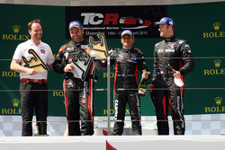 Podium Race 1: 1st position Gianni Morbidelli, Honda Civic TCR, West Coast Racing 2nd position Rene