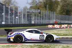 #100 DragonSpeed Ferrari 458 Italia : Henrik Hedman, Elton Julian, Thomas Kemenater
