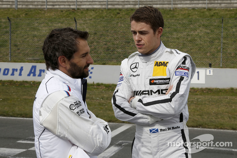 Timo Glock, BMW Team MTEK BMW M3 DTM dan Paul Di Resta, HWA AG Mercedes-AMG C63 DTM