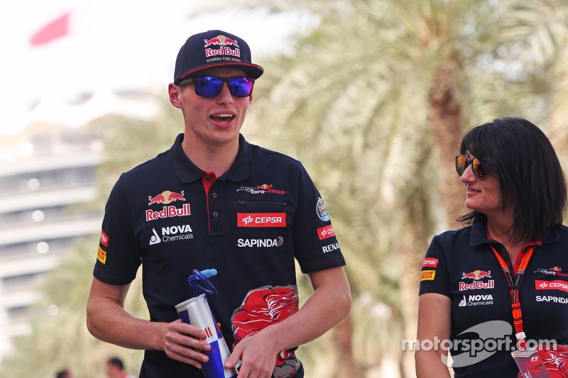Max Verstappen, Scuderia Toro Rosso ile Fabiana Valenti, Scuderia Toro Rosso Basın Sözcüsü