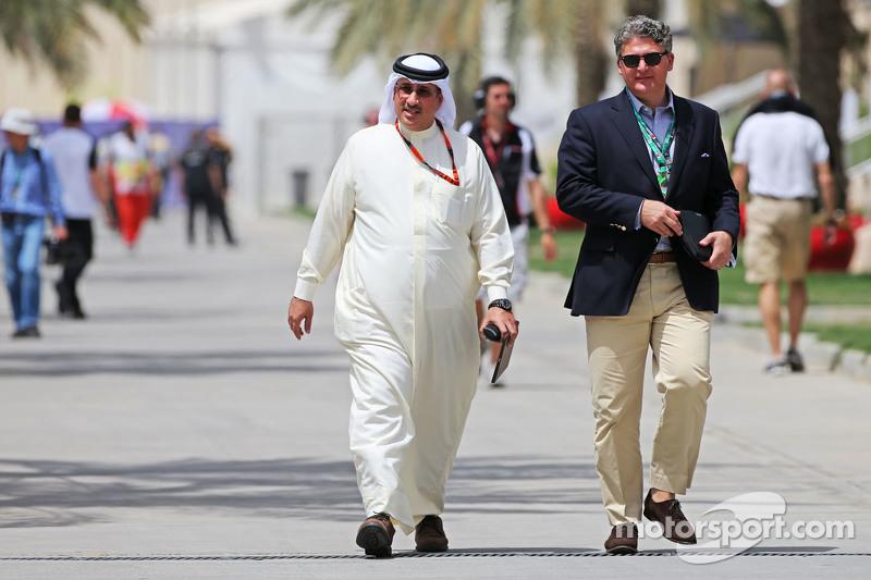 Sheikh Mohammed bin Essa Al Khalifa, CEO of the Bahrain Economic Development Board, dan McLaren Shareholder