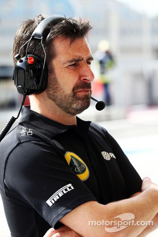 Greg Baker, Lotus F1 Team, Chefmechaniker