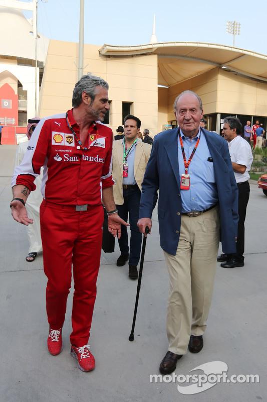Maurizio Arrivabene, Ferrari Takım Patronu ile eski İspanya Kralı Juan Carlos
