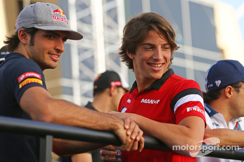 Carlos Sainz Jr., Scuderia Toro Rosso dan Roberto Merhi, Manor F1 Team